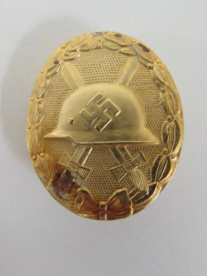 Original German Nazi Gold Wound Badge