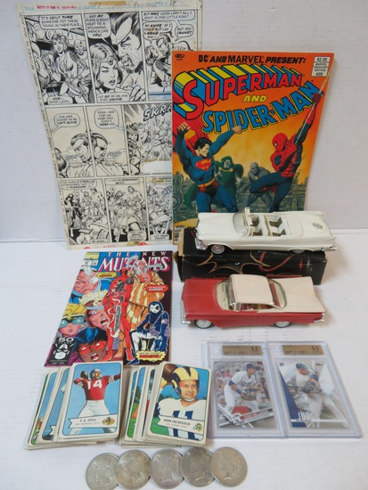 Huge Online Only Auction Comics Promo Cars Coins+