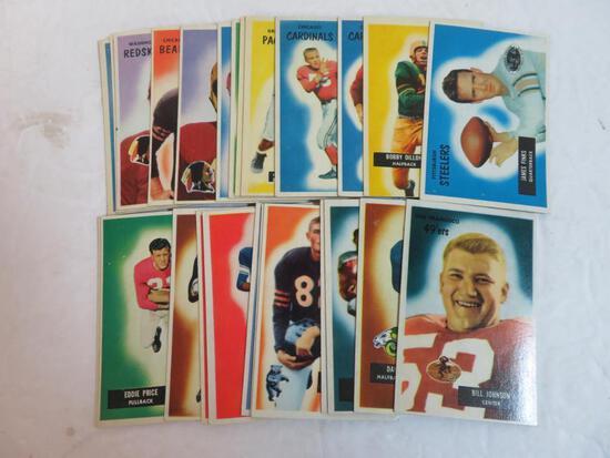 Lot (25) 1955 Bowman Football Cards
