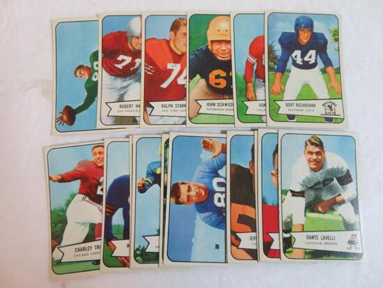 Lot (16) 1954 Bowman Football Cards