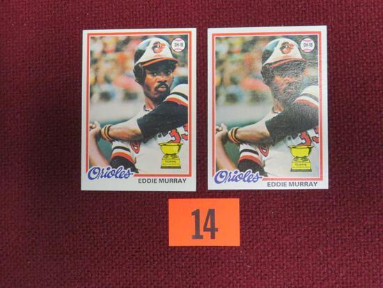 Lot (2) 1978 Topps #36 Eddie Murray RC's