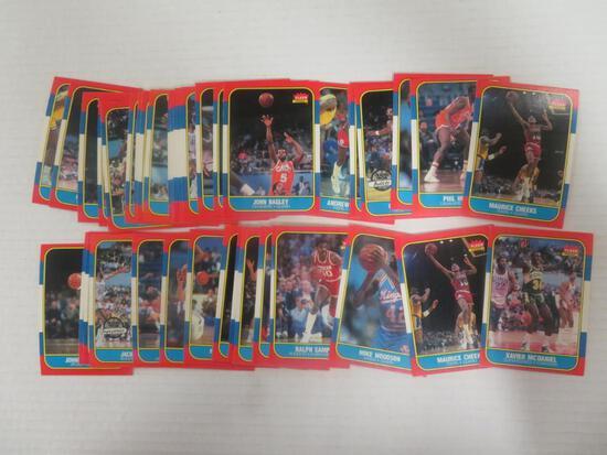 Lot (40) 1986-87 Fleer Basketball Cards