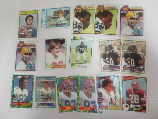 Lot (16) 1972 - 1986 Topps Football Star RC's
