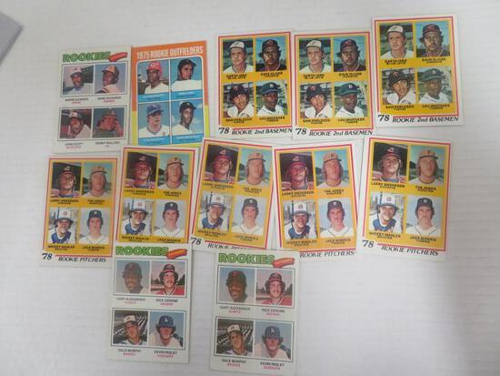 Lot (12) 1975 - 1978 Topps Baseball Superster RC's