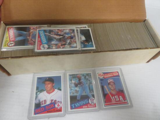 1985 Topps Baseball Complete Set/ McGwire, Clemens, Puckett RC