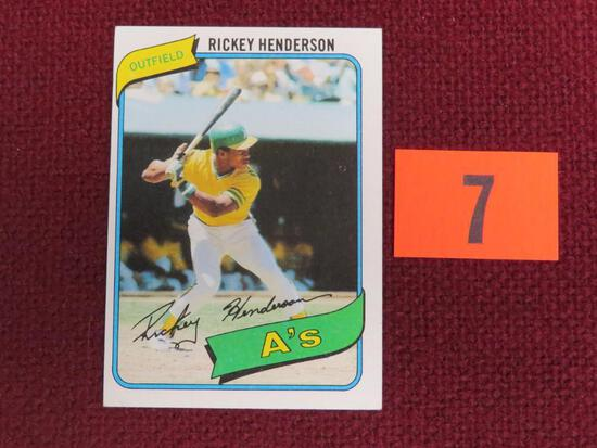 1980 Topps #482 Rickey Henderson RC