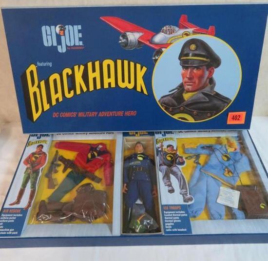 "Rare GI JOE Hasbro 12"" Blackhawk Deluxe Figure Box Set"