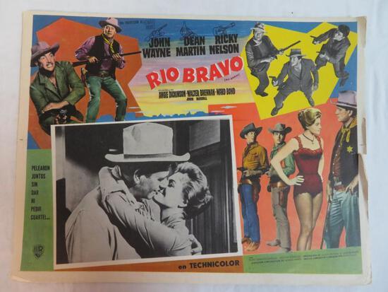 Rio Bravo (1959) John Wayne Mexican Movie Lobby Card