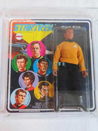 Vintage 1974 Mego Star Trek Captain Kirk Figure, Sealed MOC