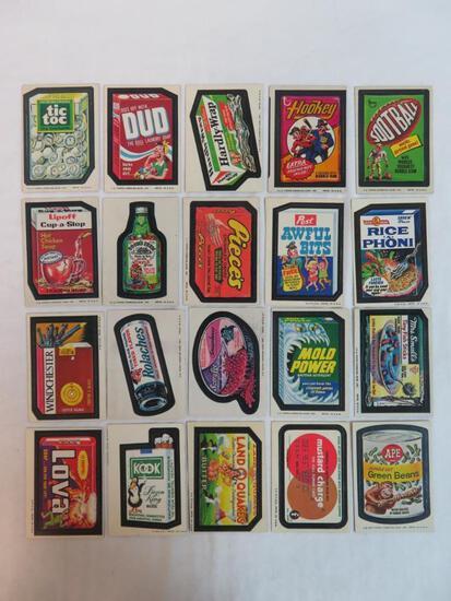 Lot (20) 1974-75 Topps Wacky Packages Tan Backs