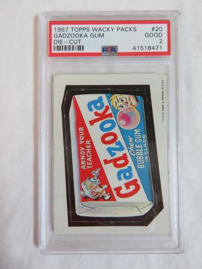 1967 Topps Wacky Packs #20 Gadzooka Gum PSA Graded Good 2