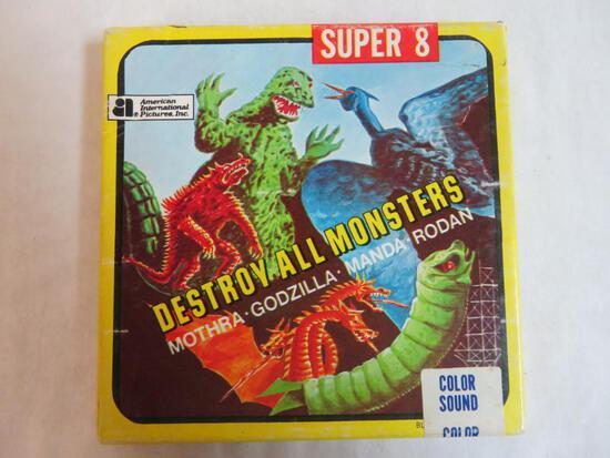 Vintage 1969 8mm Film Godzilla Destroy All monsters