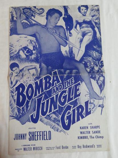 Vintage 1952 Bomba and the Jungle Girl Movie Press Book