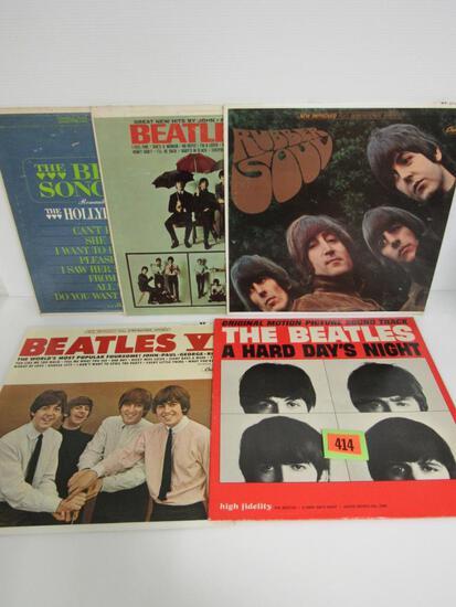 (5) Vintage Original Beatles LP Record Albums