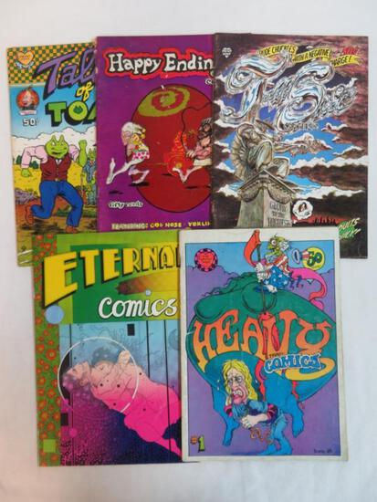 Lot (5) Vintage Underground Comics Tales of Toad, Heavy Tragi-Comics+