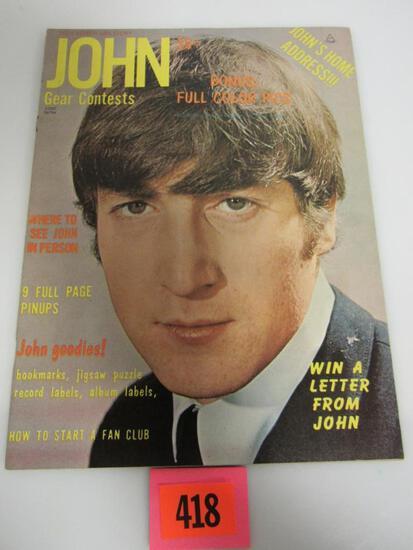Teen Screen John Lennon Life Story Magazine (1964) Beatles