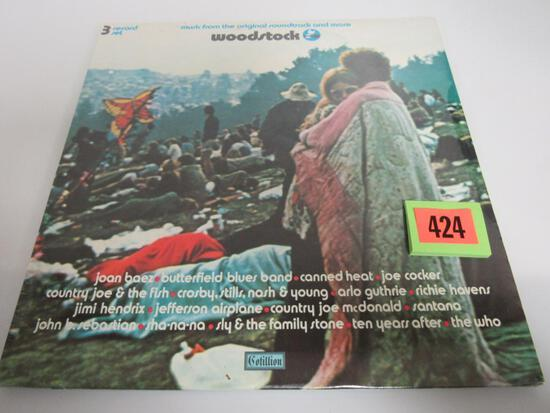 Vintage Original 1970 Woodstock LP 3-Album Record Set SEALED