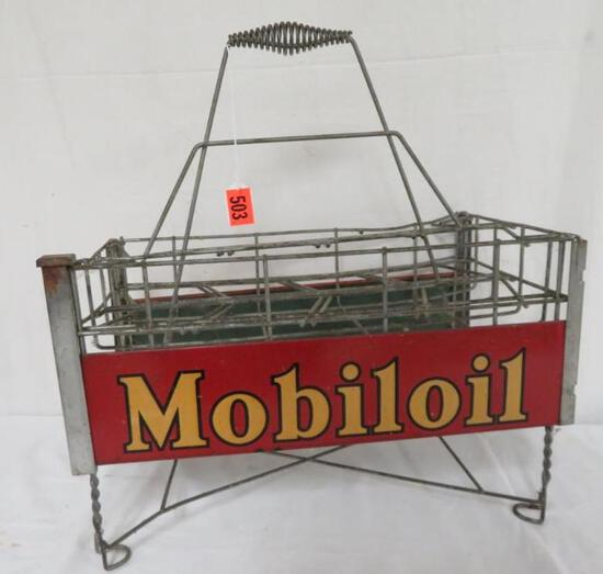 Outstanding Mobil Oil Filpruf Diamond Bottle Rack Carrier