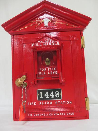 Antique Gamewell Cast Iron Fire Alarm Station Box
