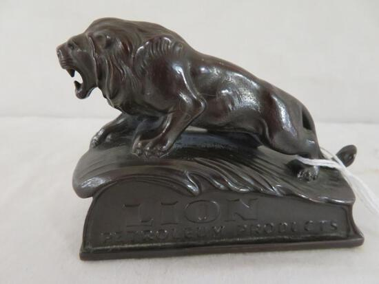 Excellent Antique Bronze Lion Petroleum Products Paperweight