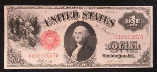 1917 $1 Red Seal Large Note