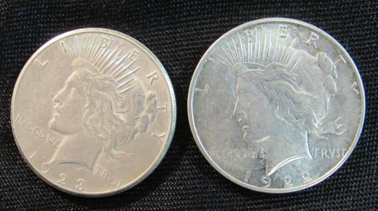 1922-D & 1923-S Silver Peace Dollars
