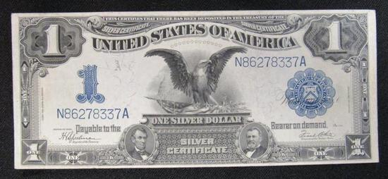 1899 $1 Silver Certificate Large Black Eagle Note