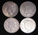 Lot (4) Silver Peace Dollars-1922-D, 1922-S, 1923-S, 1923-S