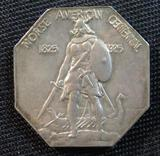 1925 Norse American Commemorative Silver Thick Coin/ Medal