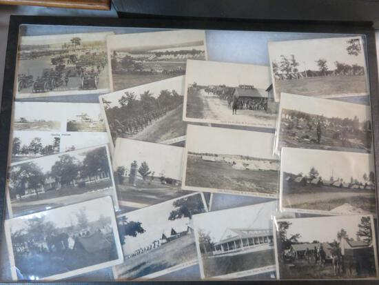 Lot of (15) Original Camp Grayling Military Real Photo Postcards