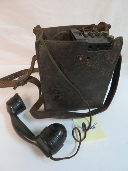 WWII U.S. Army Signal Corps Field Phone EE-8-A