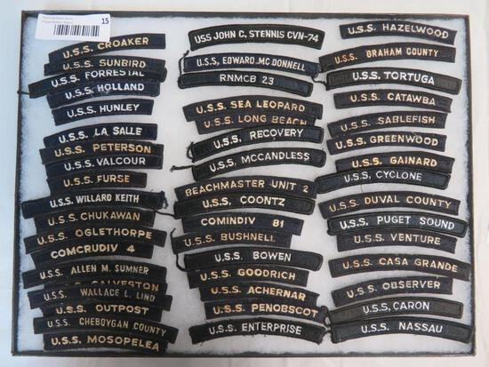 Lot of (50) United States Navy Ships Rocker Tab Patches