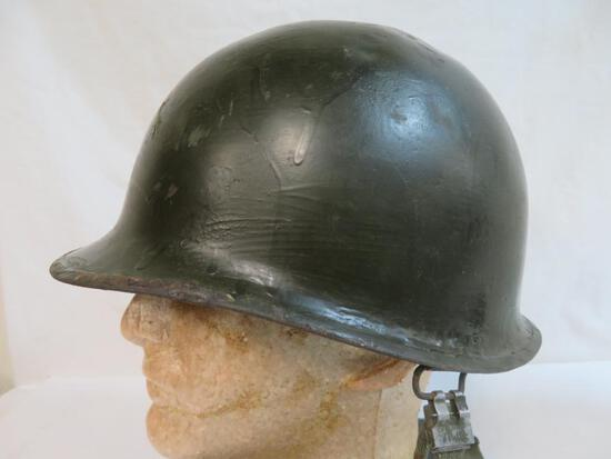 U.S. Military M-1 Steel Combat Helmet with Liner