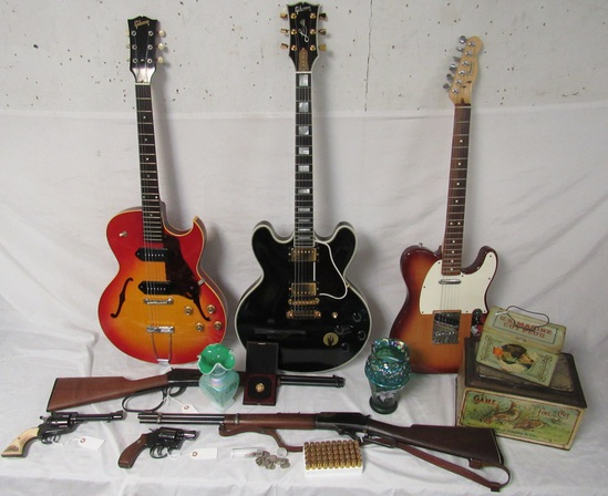 Antiques, Firearms, Coins, Guitars, Glass & More!