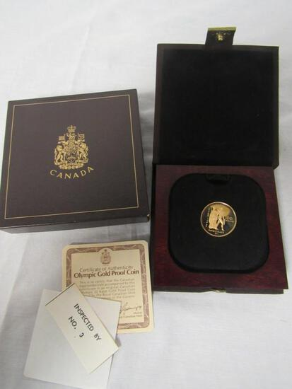 NOS 1976 Canada 1/2 oz Gold Olympic Proof Coin 22kt