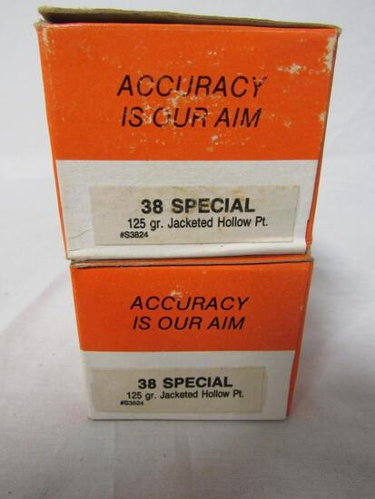 2 Boxes (100 Rds) .38 Special 125 Gr Hollow Point Ammo