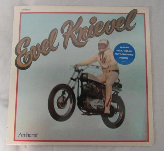 "Rare NOS Sealed 1974 Evil Knievel 12"" Vinyl Record"