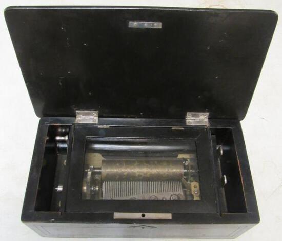 Antique Swiss Clockwork Music Box