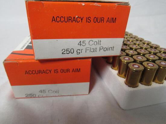 2 Boxes (100 Rds) .45 Long Colt 250 Grain Ammo