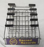 Vintage Sacred Records 45 RPM Metal Store Display Rack