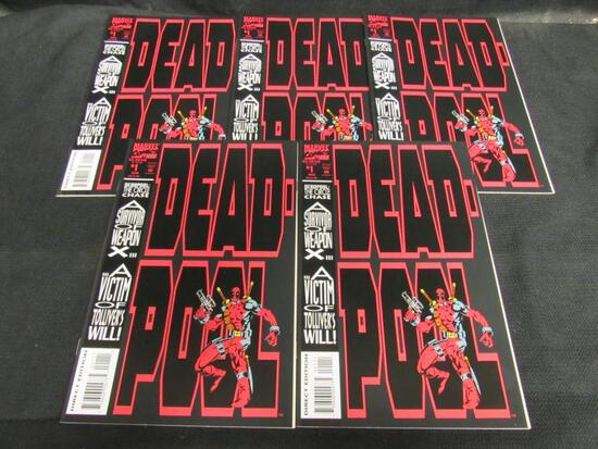 (5) Deadpool #1 (1993) Key 1st Solo Title Investment Lot