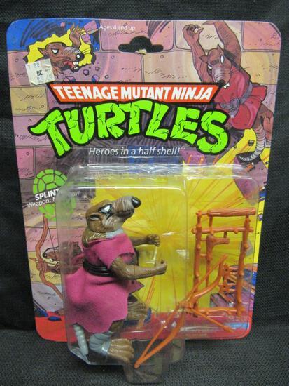 Vintage 1990 Teenage Mutant Ninja Turtles Splinter Sealed MOC