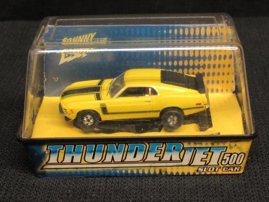 Johnny Lighting Thunderjet HO Scale Slot Car- 1970 Mustang Boss 302