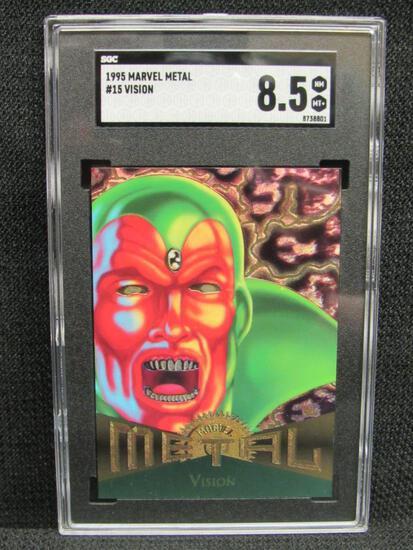 1995 Marvel Metal #15 Vision SGC 8.5 NM/MT+