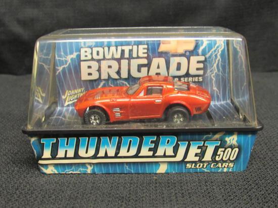 Johnny Lightning Thunderjet 500 HO Scale Slot Car- Corvette Gran Sport