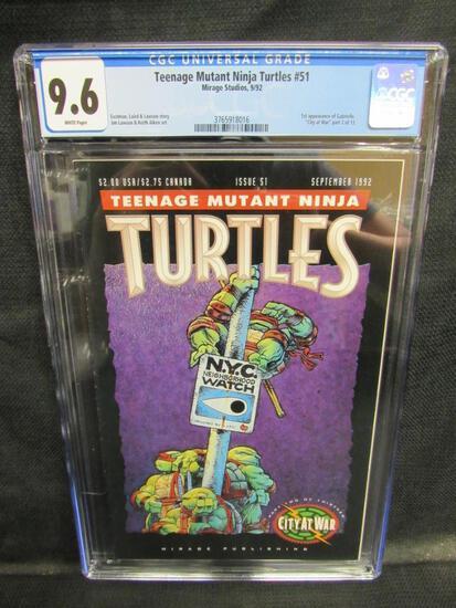 Teenage Mutant Ninja Turtles #51 (1992) Key 1st Gabrielle HOT CGC 9.6