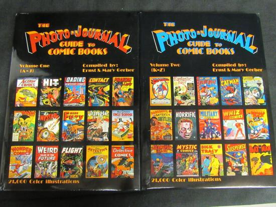 The Photo-Journal Guide to Comic Books Vol 1 & 2 Hardcovers w/ Dustjackets
