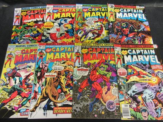 Captain Marvel Bronze Age Lot (8)
