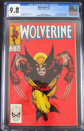 Wolverine #17 (1989) Iconic John Byrne Cover CGC 9.8
