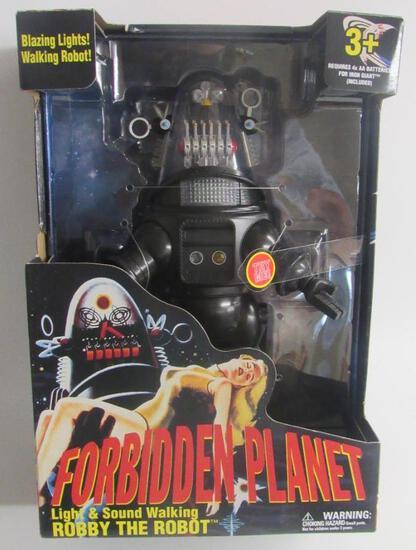 "Forbidden Planet Robby the Robot 12"" Light & Sound Walking MIB"